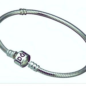 Pandora Sterling Silver Snake Chain Charm Necklace